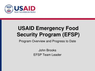 USAID Emergency Food Security Program EFSP
