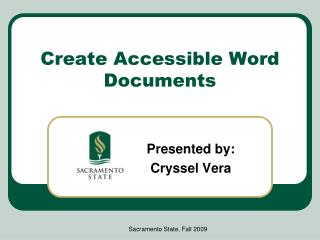 Create Accessible Word Documents