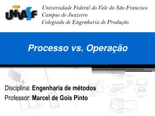 Processo vs. Opera  o