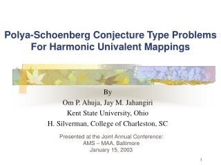 Polya-Schoenberg Conjecture Type Problems  For Harmonic Univalent Mappings