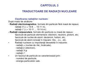 CAPITOLUL 3 TRADUCTOARE DE RADIATII NUCLEARE