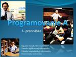 Programovanie A