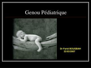 Genou P diatrique