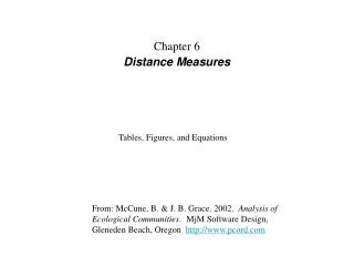 Chapter 6 Distance Measures