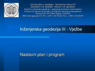 Nastavni plan i program
