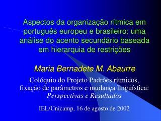Aspectos da organiza  o r tmica em portugu s europeu e brasileiro: uma an lise do acento secund rio baseada em hierarqui