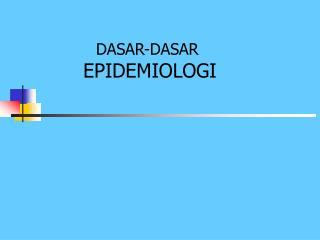 SEJARAH EPIDEMIOLOGI