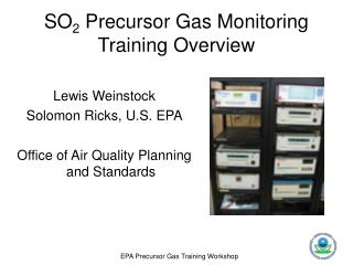 SO2 Precursor Gas Monitoring Training Overview