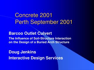 Concrete 2001 Perth September 2001