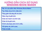 HUNG DN C CH S DNG WINDOWS MOVIE MAKER