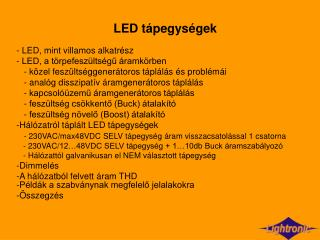 LED t pegys gek