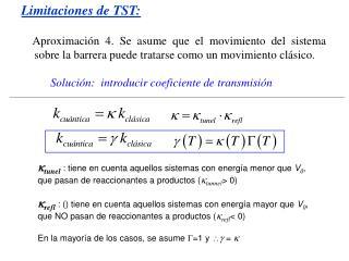 Limitaciones de TST: