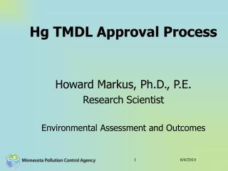 Hg TMDL Approval Process