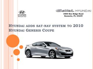 Hyundai adds sat-nav system to 2010 Hyundai Genesis