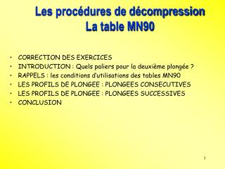 Les proc dures de d compression  La table MN90
