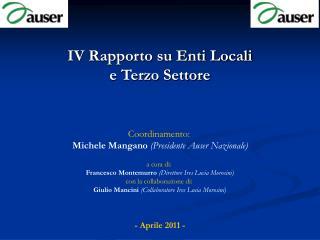 IV Rapporto su Enti Locali e Terzo Settore