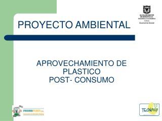 APROVECHAMIENTO DE PLASTICO  POST- CONSUMO