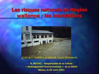 Les risques naturels en R gion wallonne : les inondations