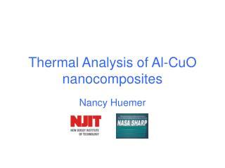 Thermal Analysis of Al-CuO nanocomposites