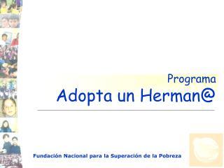 Programa Adopta un Herman