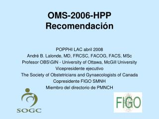 OMS-2006-HPP Recomendaci n