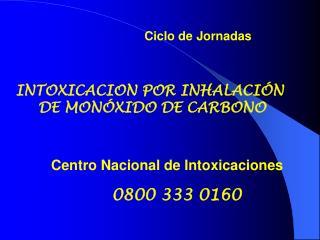 INTOXICACION POR INHALACI N  DE MON XIDO DE CARBONO