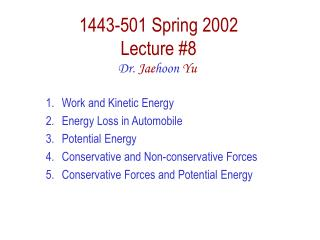 1443-501 Spring 2002 Lecture 8