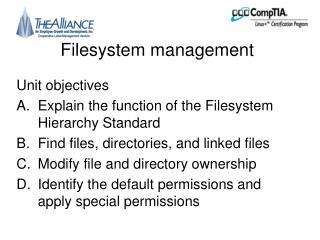 Filesystem management