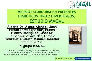 MICROALBUMINURIA EN PACIENTES DIAB TICOS TIPO 2 HIPERTENSOS.  ESTUDIO MAGAL