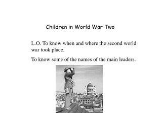Children in World War Two
