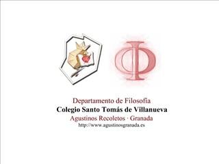 Departamento de Filosof a Colegio Santo Tom s de Villanueva Agustinos Recoletos   Granada agustinosgranada.es