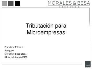 Tributaci n para Microempresas