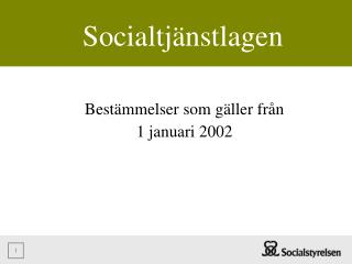 Socialtj nstlagen