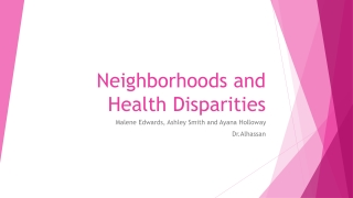 Healthy Neighborhoods Include You