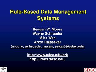 Rule-Based Data Management Systems
