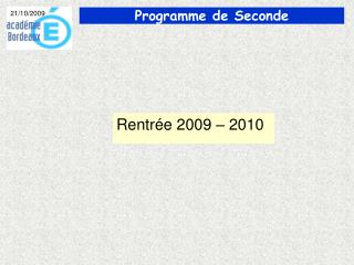Rentr e 2009   2010