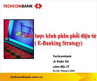 Chin luc k nh ph n phi din t  E-Banking Strategy