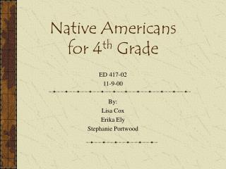 Native Americans for 4th Grade