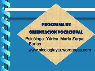 Psic loga  Y rica  Mar a Zerpa Far as sicologiaytu.wordpress