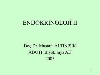 ENDOKRINOLOJI II