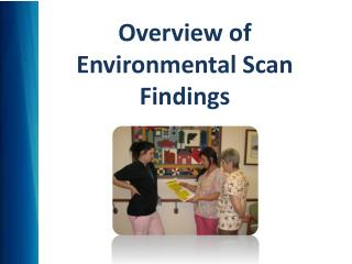 Overview of  Environmental Scan Findings