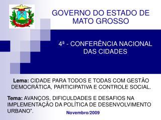 4  - CONFER NCIA NACIONAL DAS CIDADES