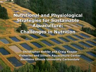 Nutritional and Physiological Strategies for Sustainable Aquaculture:  Challenges in Nutrition