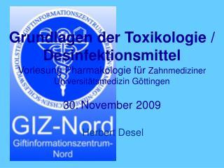 Grundlagen der Toxikologie