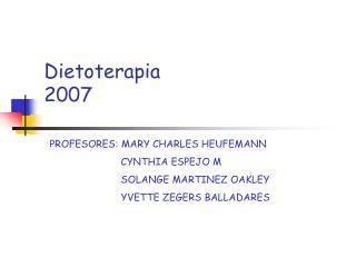 Dietoterapia 2007