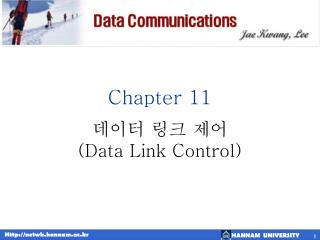 Chapter 11      Data Link Control