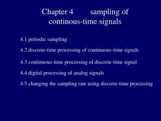 Chapter 4  sampling of  continous-time signals