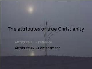 The attributes of true Christianity