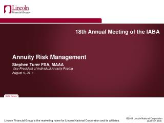 Annuity Risk Management