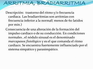 }Patologias cardiacas